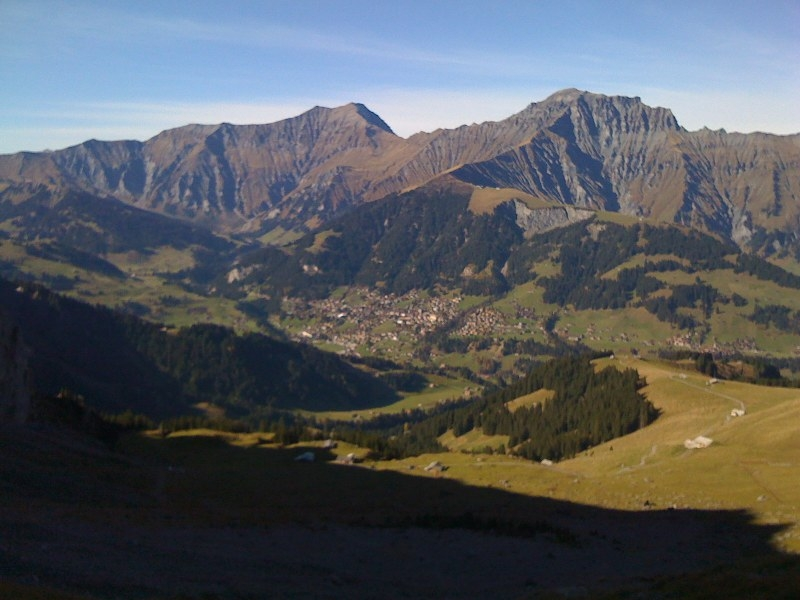 View of the Tschentenalp Adelboden